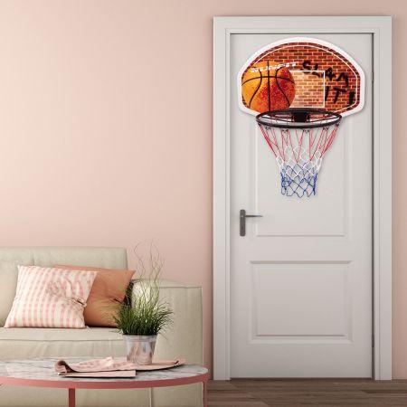 Costway Mini Panier de Basket Mural 73,5 x 51CM Filet en Nylon Fixer en Suspension