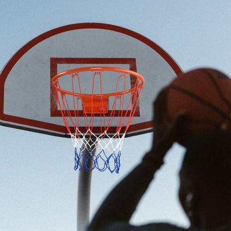 Costway Anneau de Basketball Panier de Basket avec Filet 46 CM Fixation au Murale pour Adultes / Enfants