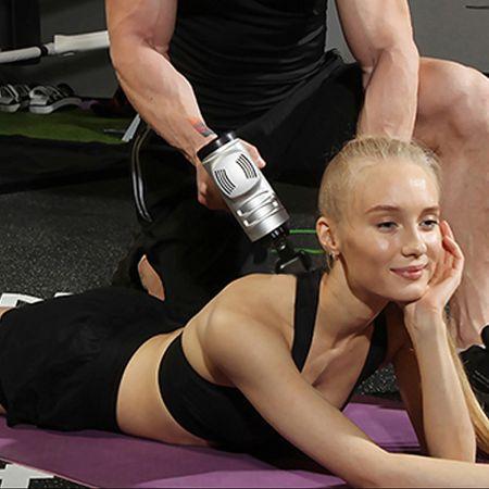 Costway Pistolet de Massage Professionnel Appareil de Massage Portable 4 Têtes de Massage à 6 Vitesses Réglables