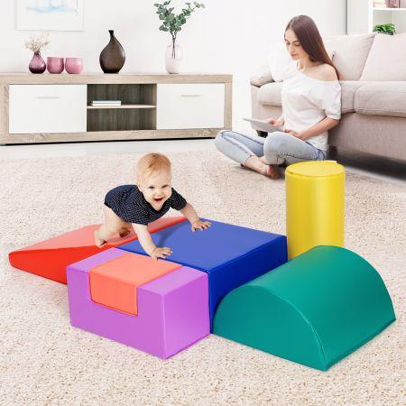 Costway 6PCS Blocs de Construction en Mousse Colorée Jouets Educatifs pour Dvelopper les Cpacités Mtrices des Bébés modèle 3