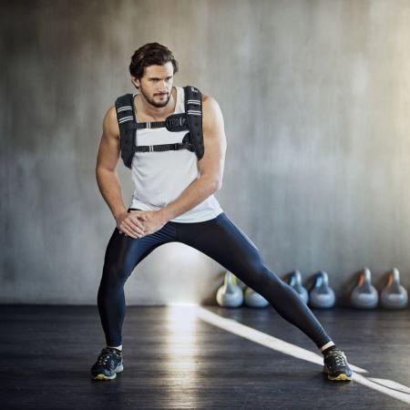 Costway Gilet Lesté de 9KG avec Sangles Réglables pour Gym Formation Liberté de Mouvement Optimale