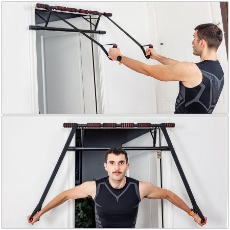 Costway Set de Barre de Traction Mural Barre de Fitness pour Exercices Pull Up Fixation Sans Vis Jusqu'à 200KG 100,5 x 32,5 x 78 CM