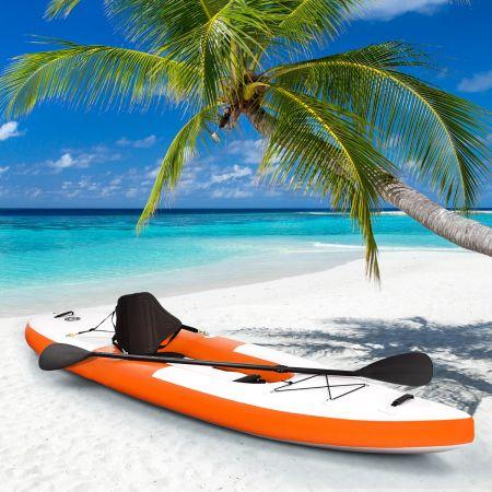 Costway Kayak Gonflable 1 Place avec Pagaie Réglable Siège Gonflable et Pompe Manuelle 330 x 81 x 20 CM Charge Max 130 KG