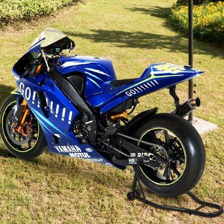 Costway Béquille d'Atelier Lève Moto Support de Roue Paddock Moto avec Bras Réglable Noir