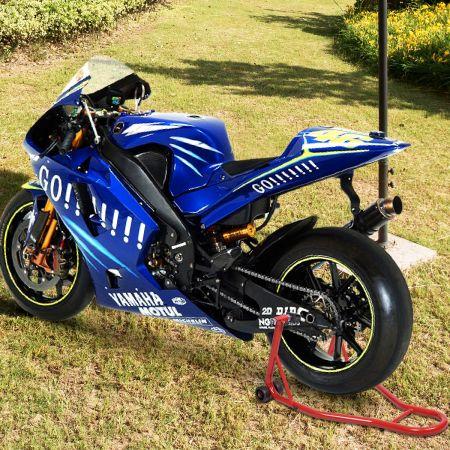 Costway Béquille d'Atelier Lève Moto Support de Roue Paddock Moto avec Bras Réglable Rouge
