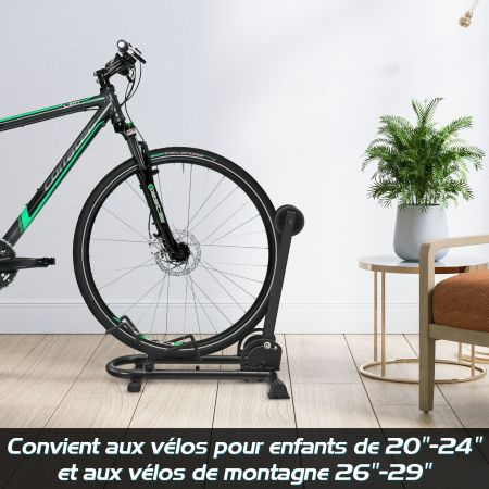 """Costway Support de Stationnement de Plancher de Vélo Râtelier Vélo Pliable pour Roue 20"""" à 29"""" Noir"""