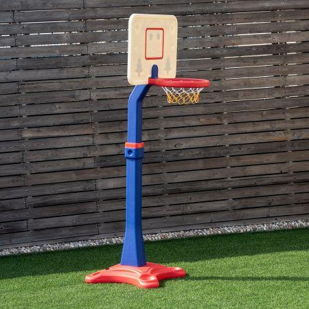Costway Pannier de Basket-ball Hauteur Réglable entre 160 à 215 cm Pour Enfant de 3 Ans et Plus