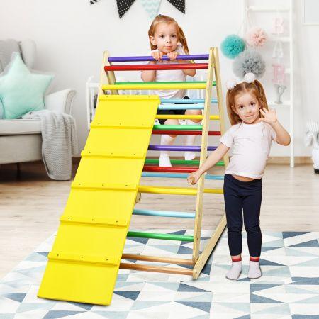 Costway Échelle d'Escalade Triangle d'Escalade pour Enfant en Bois Pour Garçons et Filles 3 Ans+