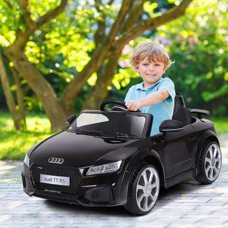 Costway Voiture Audi TTRS Electrique pour Enfants 12V Max. 5 Km/h Double Porte avec Télécommande 2.4G