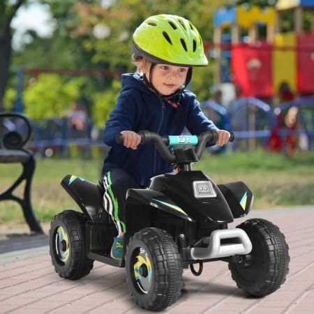Costway Quad Buggy Electrique pour Enfant 6 V 4,5 Km-H MAX Voiture pour Enfants de 3 Ans+ Noir