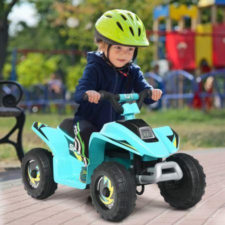Costway Quad Buggy Electrique pour Enfant 6 V 4,5 Km-H MAX Voiture pour Enfants de 3 Ans+ Bleu