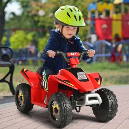 Costway Quad Buggy Electrique pour Enfant 6 V 4,5 Km-H MAX Voiture pour Enfants de 3 Ans+ Rouge