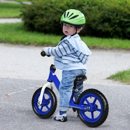 Costway Draisienne Vélo d'Entraînement sans Pédale Avec Siège Réglable Bleu et Noir