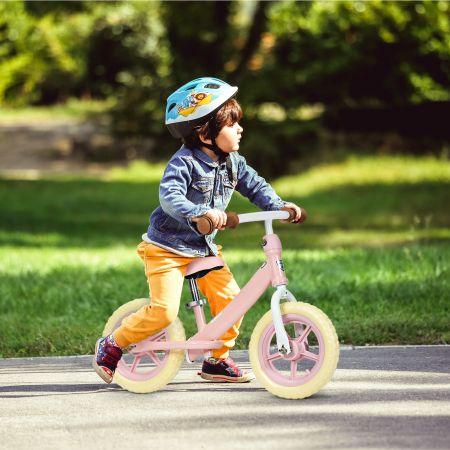 Costway Draisienne Vélo d'Entraînement sans Pédale Avec Siège Réglable Rose et Jaune
