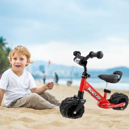 Costway Moto pour Enfants Draisienne Vélo d'Equilibre Vélo sans Pédale Vélo Balance avec Autocollant Anti-collision Rouge