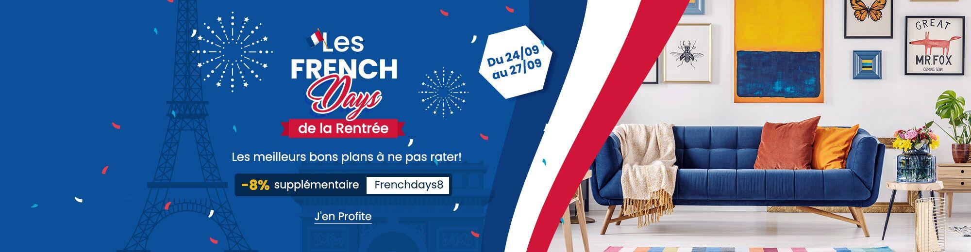 Rattrapez-vous avec les French Days de la rentrée chez Costway! Découvrez tous les bons plans et profitez d'une livraison gratuite sur tout le site costway.fr!