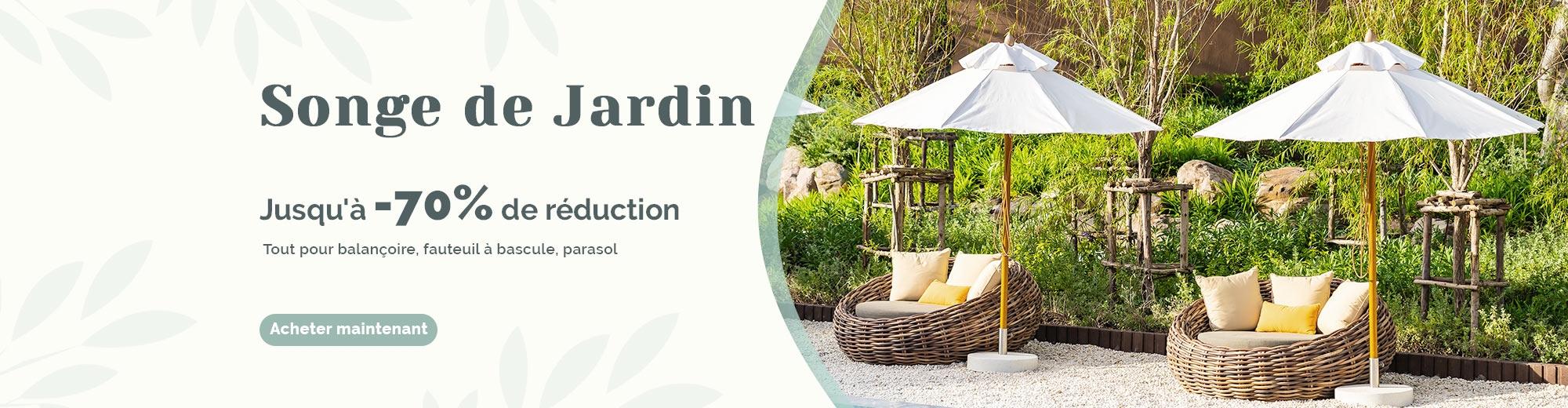 Redonnez une jeunesse à votre jardin avec la super remise! Découvrez notre offre spéciale jardin et profitez d'une livraison gratruite sur tout le site costway.fr!